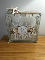 Life s a beach glass block Christmas Pinterest