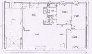 plan maison plain pied 3 chambres en l nouveau plan de maison plain pied 3 chambres artlitude