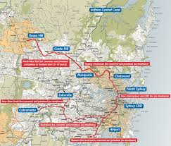 Santiago Metro Map by Sydney Metro Northwest Transport Sydney