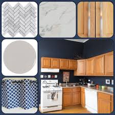 blue kitchen island with oak cabinets kitchen inspiration honey oak cabinets and hale navy blue
