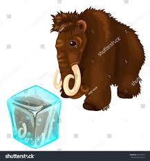 mammoth frozen ice vector illustration stock vector 385715656
