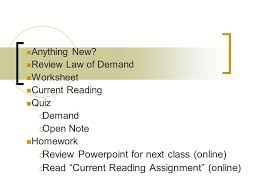 anything new review law of demand worksheet current reading quiz