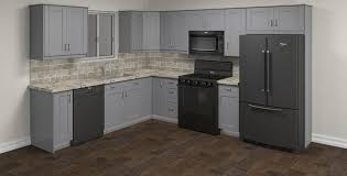 gray kitchen cabinets klëarvūe cabinetry strömma gray l shaped kitchen