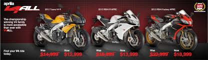 v4 motorcycle price aprilia revises sportbike pricing to compete with japanese on
