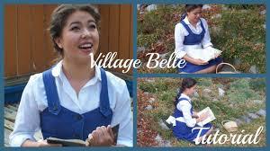 halloween costumes belle beauty beast belle halloween tutorial hair makeup and costume for village