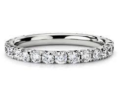 white gold eternity ring pavé diamond eternity ring in 14k white gold 1 ct tw