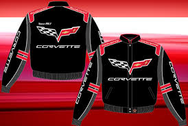 corvette racing jacket corvette racing black twill jacket