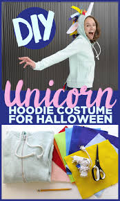 Halloween Unicorn Turn A Hoodie Into A Unicorn Costume For A Magically Low Key Halloween