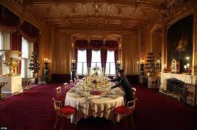 Charming Windsor Castle Dining Room  On Chairs For Sale With - Castle dining room
