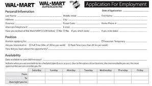 walmart job application printable job employment forms