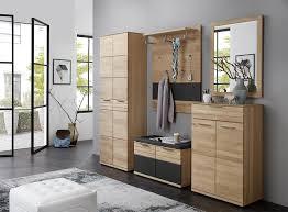 garderobenpaneel mit sitzbank 4 tlg garderoben set in pinie hell nachbildung garderobenschrank