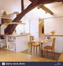 white loft kitchen shelving monochromatic stock photos u0026 kitchen shelving