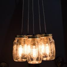 Jar Pendant Light Cluster Of Five Preserve Jars Pendant Light U2013 Duma Home Ltd