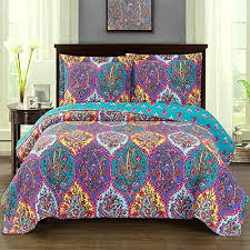 110 X 96 King Comforter Sets Bedspread Coverlet 3 Piece Quilt Set King Cal King Size Oversized