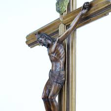 wooden wall crucifix antique carved wooden religious wall crucifix from italy