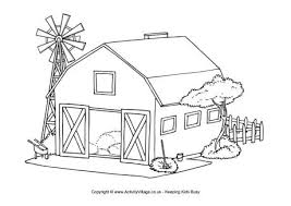 barn coloring pages coloring