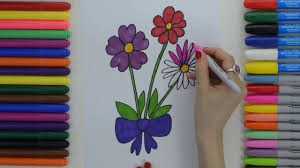 learn how to draw simple flowers easy for kids education