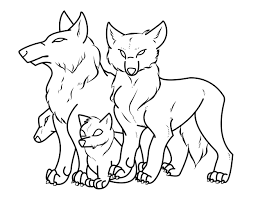 wolf family outline drawing crochetamommy 2018 oct 24 2012