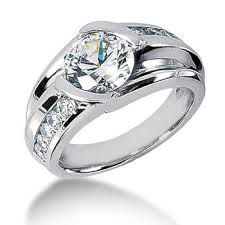 mens diamond engagement rings large 3 carat men s diamond solitaire finger ring
