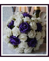Bridesmaid Bouquet Cadburys Purple Rose Bridesmaid Bouquet Made To Order With Ivory