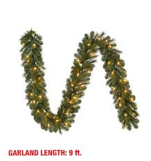 9 ft pre lit led wesley pine garland x 170 tips with 60 ul