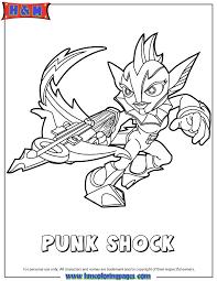 skylanders swap force water punk shock coloring page h u0026 m