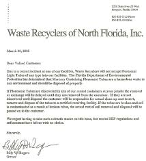 who must recycle pensacola recycling inc fluorescent light