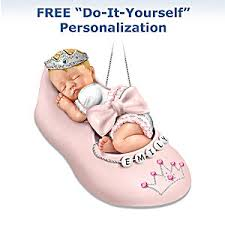personalizable baby ornament our precious princess