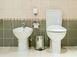Modern Bathroom Toilet Modern Bathroom With Toilet And Bidet Stock Photo Image 25294270