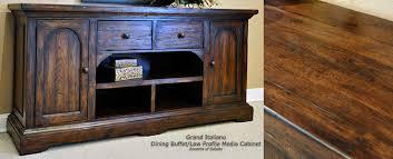 Tuscan Style Rustic Dark Wood Furniture Dining Room Buffets - Dark wood furniture