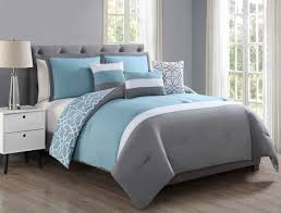 Blue Gray Bedroom by Piece Blythe Blue Gray White Reversible Comforter Set