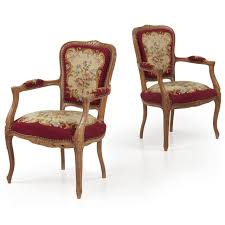pair of reproduction french fauteuil arm chairs silla fine antiques