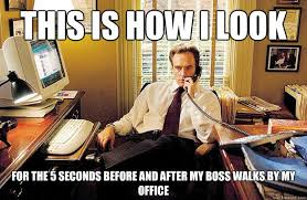 Office Boss Meme - 24 things all indians do in the offices to fake they are working