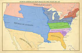 america map no borders alternate history map of america in a us