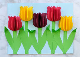 tulips flowers gorgeous 3d paper tulip flower craft i heart crafty things