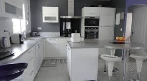 deco cuisine blanche et grise deco cuisine gris et blanc amazing gallery of cuisine et