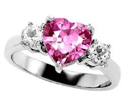 Pink Diamond Wedding Rings by New Style Pink Sapphire Heart Cut Wedding Rings For Bridal With