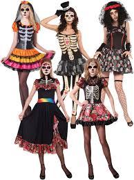 halloween costume mexican skeleton ladies day of the dead halloween skeleton fancy dress costume size