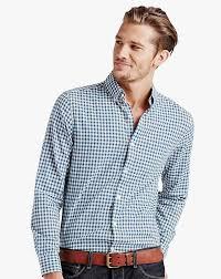 lucky brand men u0027s long sleeve check button down shirt blue