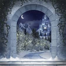Castle Backdrop Winter Castle Through Archway Photo Backdrops And Backgrounds