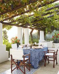 Outdoor Dining Room Grape Leaf Covered Pergola Such Pretty Outdoor Seating