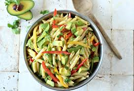 Creamy Pasta Salad Recipes by Avocado Pasta Salad With A Creamy Dijon Mustard Dressing