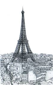 paris eiffel tower sketch 3 by sketchmodern on etsy beautiful