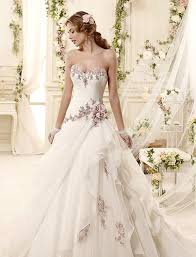 color wedding dresses color on white 20 beautiful white wedding dresses with a touch of