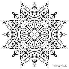 easy coloring pages mandala coloring