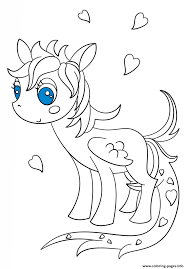 kawaii pegasus pony coloring pages printable