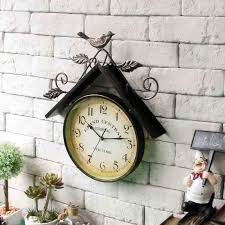 Wrought Iron Home Decor Wall Clock Infinity Instruments Retro Metal Wall Clocks Retro