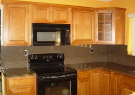 kitchen enchanting ideas ivory cabinets brown tiles grey