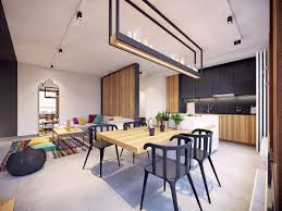 colorful modern apartment design uses space to beautiful effect