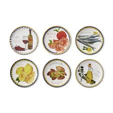 horderve plates italian icon mixed appetizer plates set of 6 williams sonoma